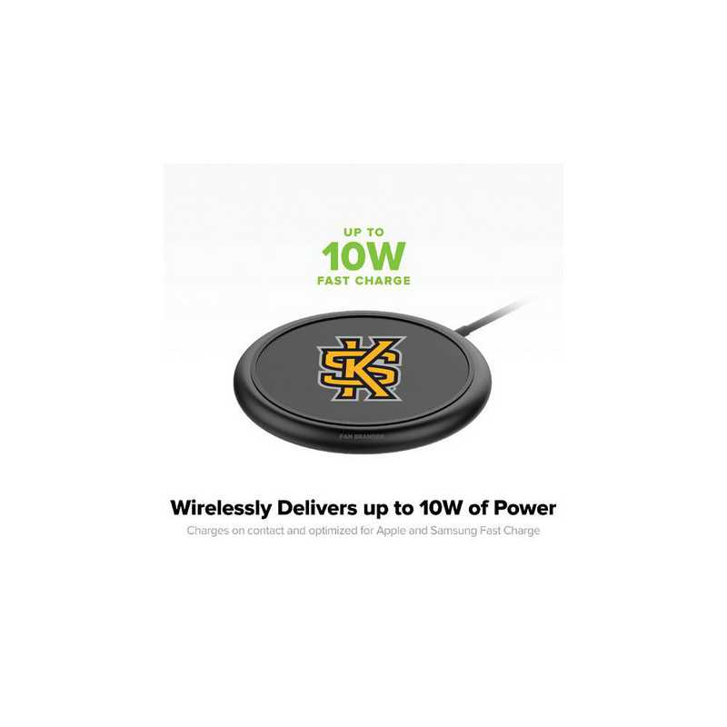 WD-UNI-BK-CFW-KSUA-D101: FB Kennesaw State Owls mophie Wireless Devices charge