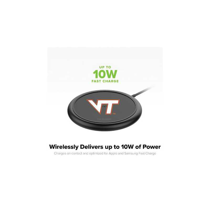 WD-UNI-BK-CFW-VAT-D101: FB Virginia Tech Hokies mophie Wireless Devices charge
