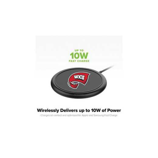 WD-UNI-BK-CFW-WKU-D101: FB Western Kentucky Hilltoppers mophie Wireless Devices