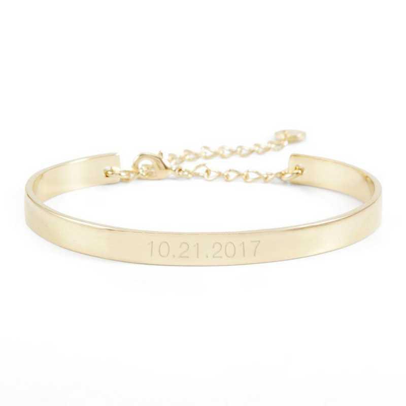 BYB1034G: Gwen Date Cuff Bracelet Gold-tone