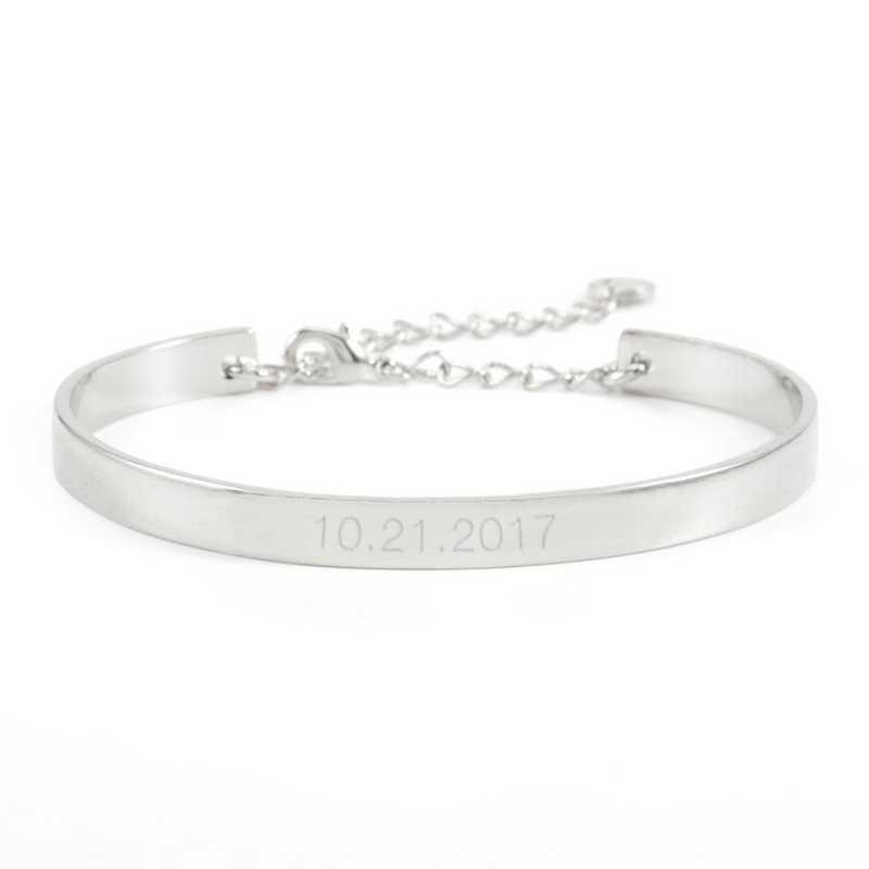 BYB1034S: Gwen Date Cuff Bracelet Silver-tone