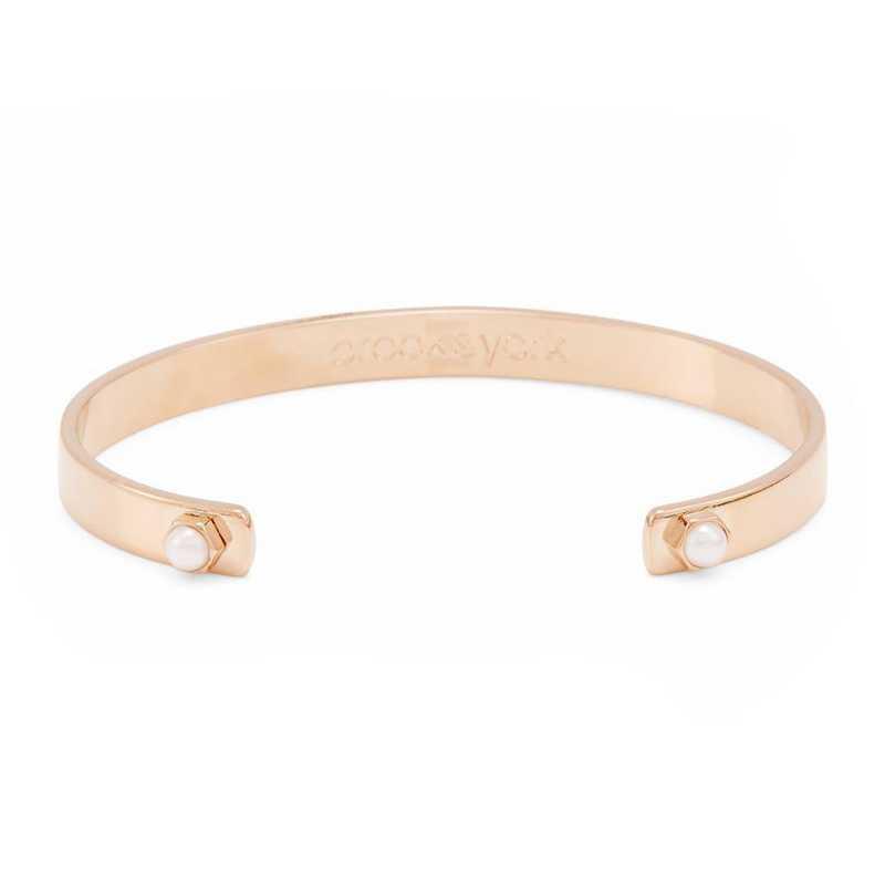 BYB1046R: Ella Simulated 4mm Pearl Cuff Bracelet