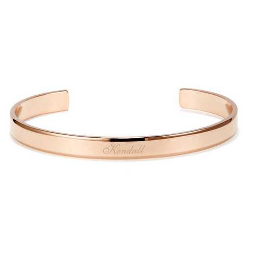BYB1051R: Thin and fine rose-gold plated SS name cuff bracelet