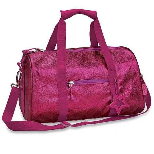 303024: Bixbee Sparkalicious Ruby Raspberry Duffle - Medium