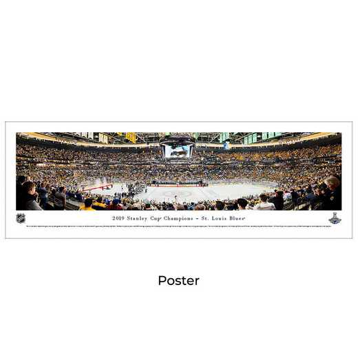 NHLSC19: 2019 Stanley Cup Champions - St. Louis Blues, Unframed