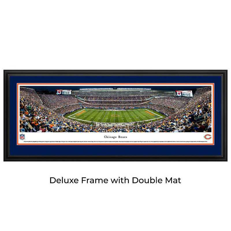 Chicago Bears - Night Game - Panoramic Print