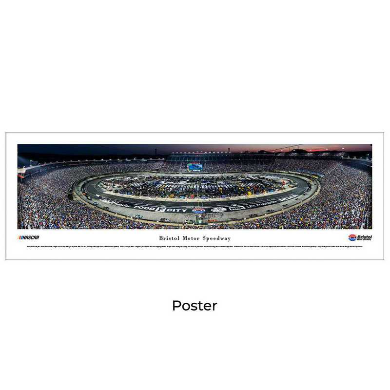 BMS6: Bristol Motor Speedway - Night Race, Unframed Poster