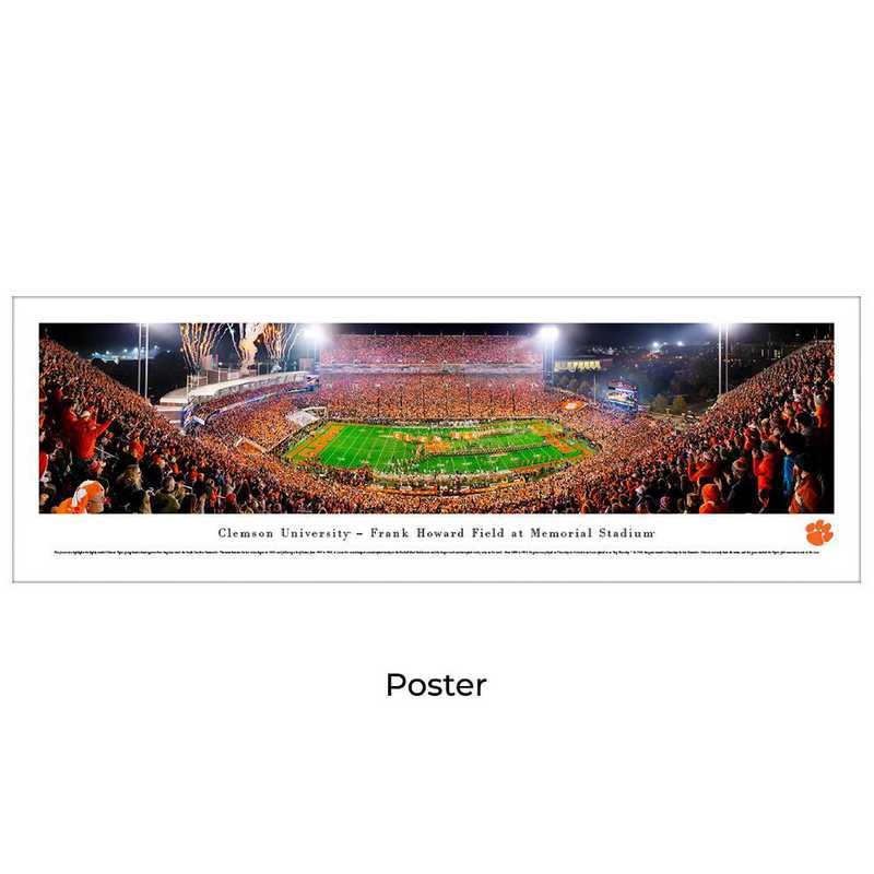 CLEM5: Clemson Tigers Football #5 (50 Yd) - Unframed Poster