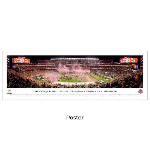 CFPC19: 2018 College Football Champions - Clemson Tigers, Unframed