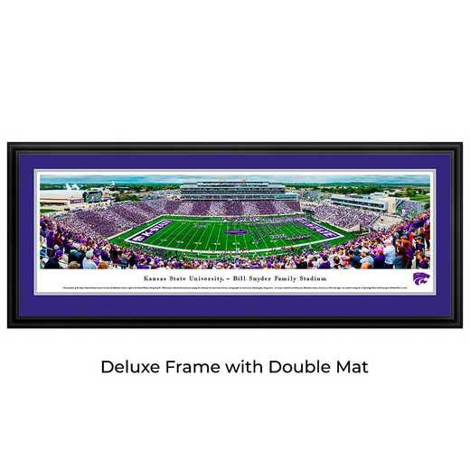 KSU6D: Kansas State Wildcats Football #6 - Stadium Stripe - Deluxe