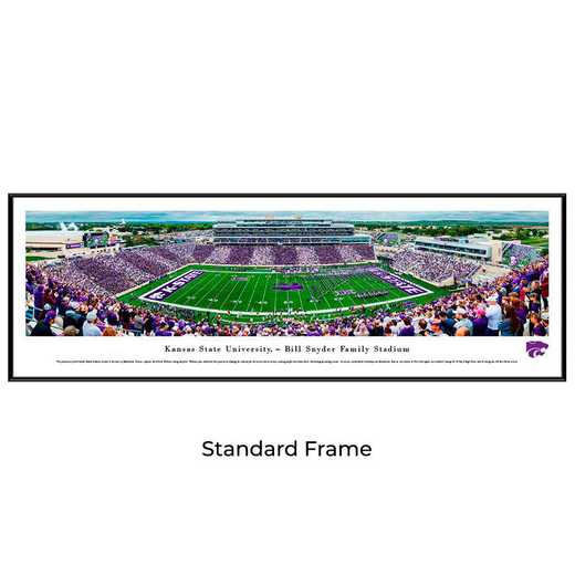 KSU6F: Kansas State Wildcats Football #6 - Stadium Stripe - Standard