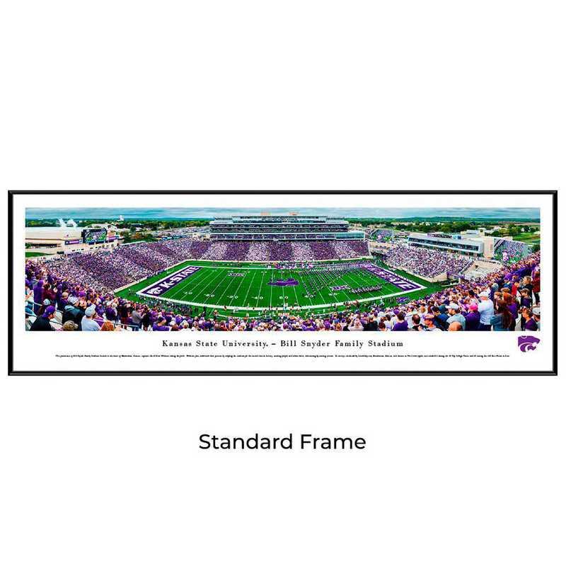 KSU6F: Kansas State Wildcats Football #6 - Stadium Stripe - Standard