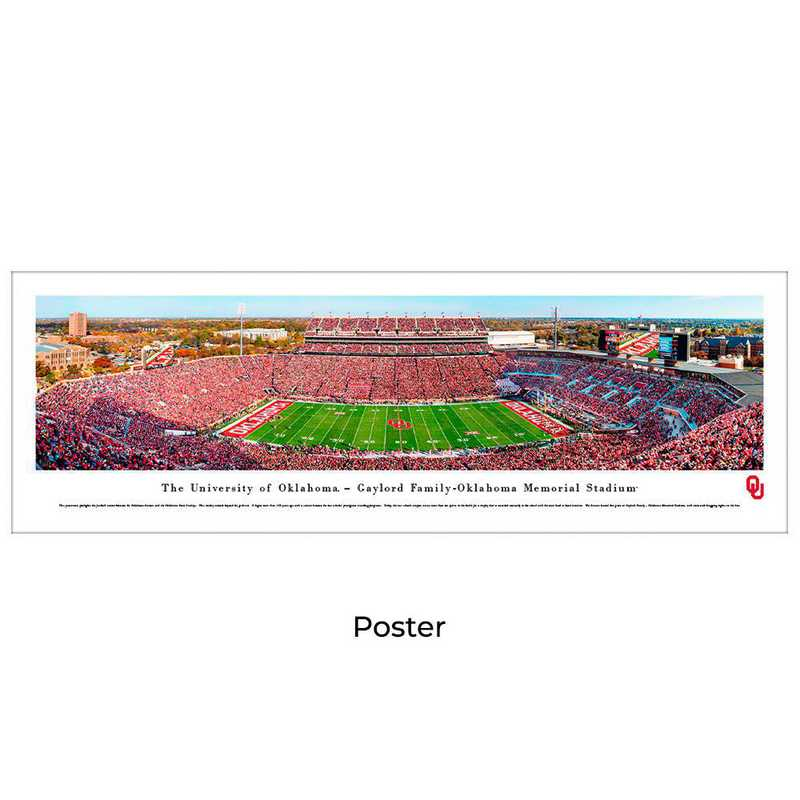 UOK8: Oklahoma Sooners Football #8 (50 YD) - Unframed Poster