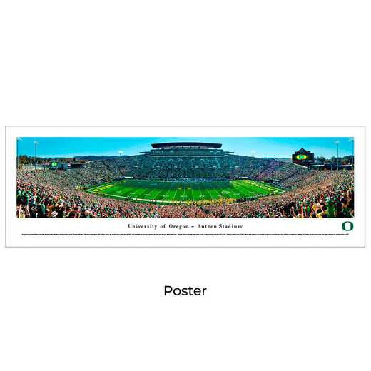 UOR7: Oregon Ducks Football #7 (Green Out), Unframed Poster