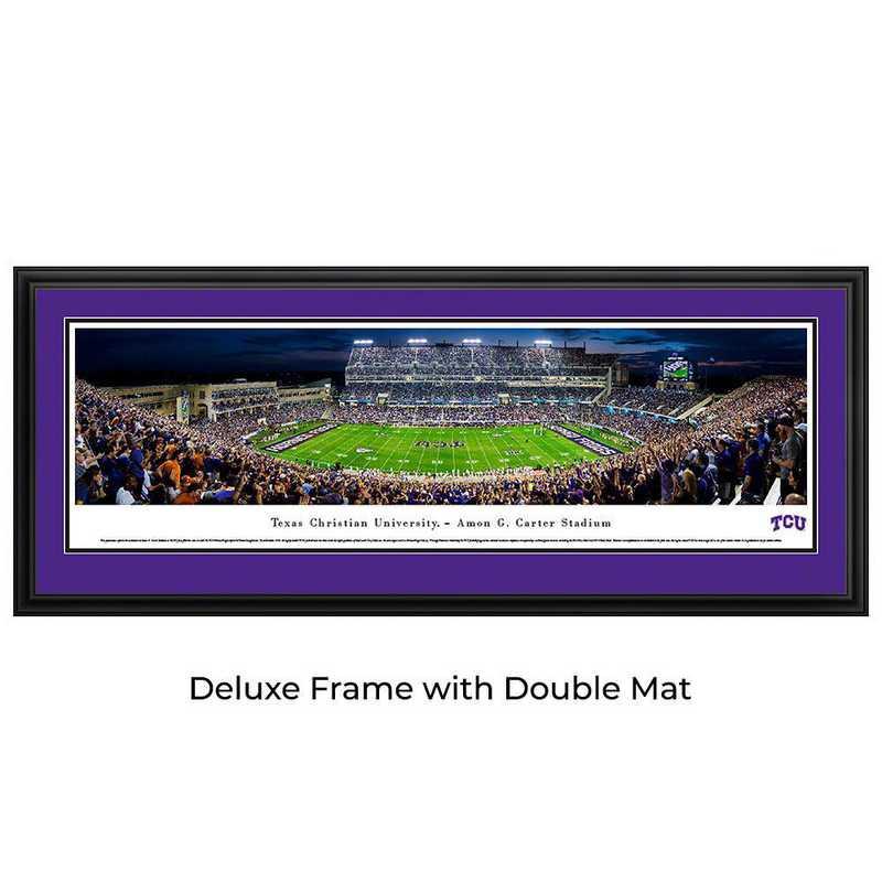 TCU Horned Frogs Football - 50 Yard at Night - Panoramic Print