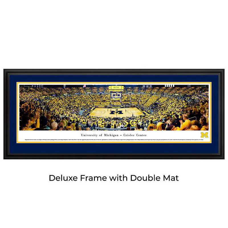 UMI7D: BW Michigan Wolverines Basketball- Deluxe