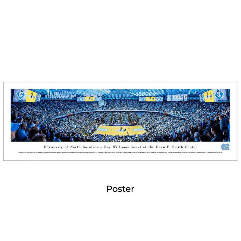 UNC4: BW North Carolina Tar Heels Basketball, Unframed