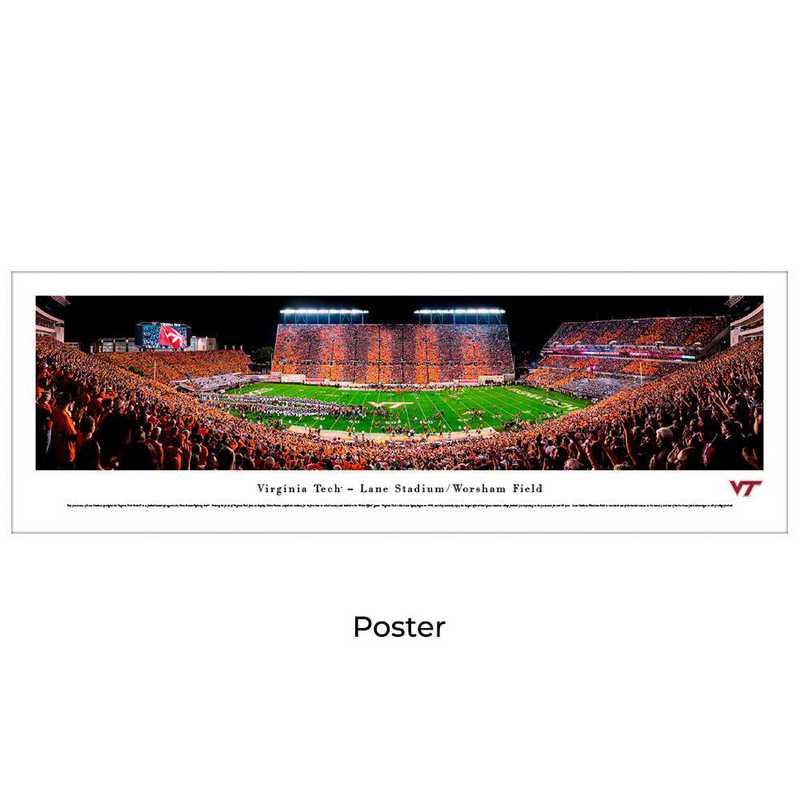 VAT4: Virginia Tech Hokies Football #4 - Stadium Stripe - Unframed