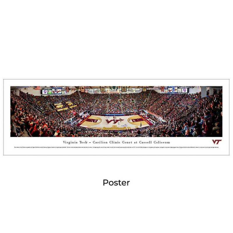 VAT5: BW Virginia Tech Hokies Basketball, Unframed