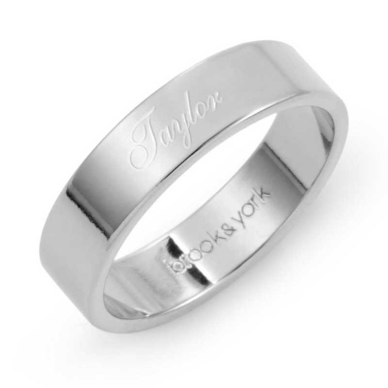 Personalized Aria Name Sterling Silver Fine Ring by Brook and York