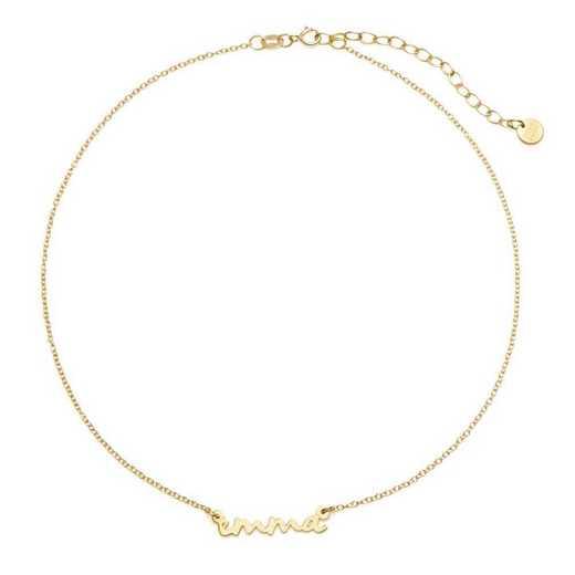BYN1064G: Nella Mini Nameplate Choker Necklace