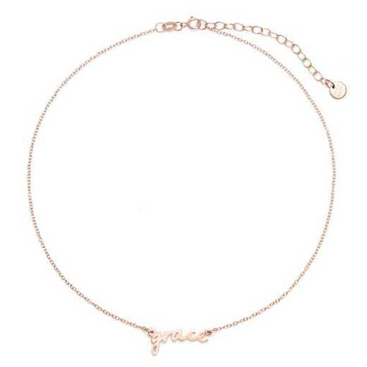 BYN1064R: Nella Mini Nameplate Choker Necklace