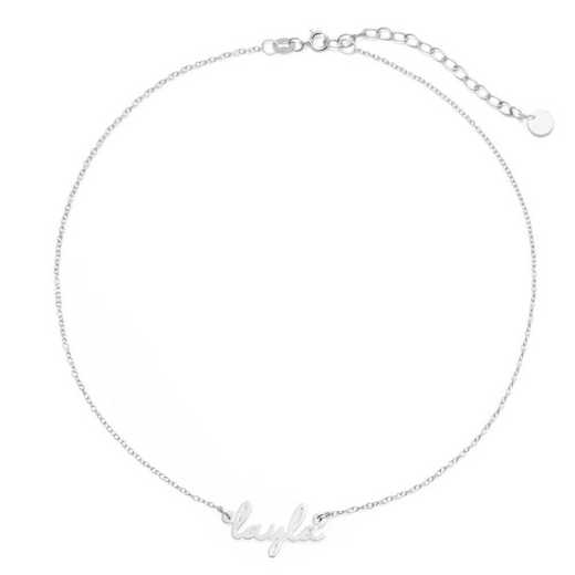 BYN1064S: Nella Mini Nameplate Choker Necklace