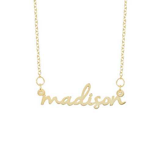 BYN1063G: Nella Mini Nameplate Necklace