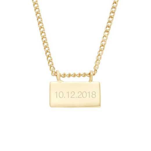 BYN1117G: Petite Date Bar Necklace