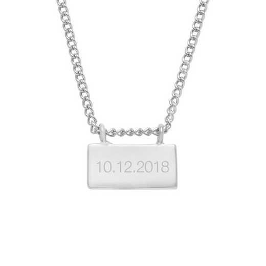 BYN1117S: Petite Date Bar Necklace