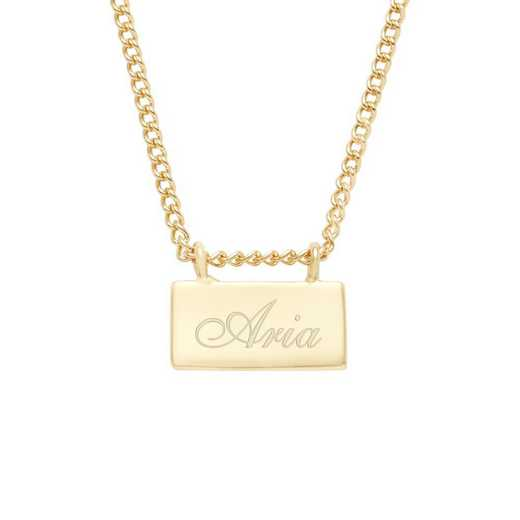 BYN1116G: Petite Name Bar Necklace