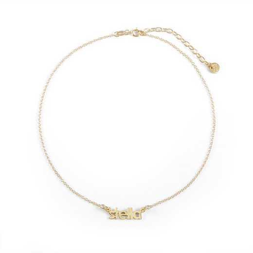 BYN1069G: Sofia Mini Namplate Choker Necklace