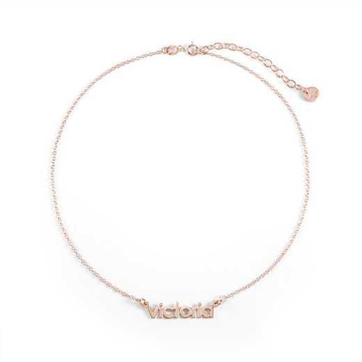 BYN1069R: Sofia Mini Namplate Choker Necklace