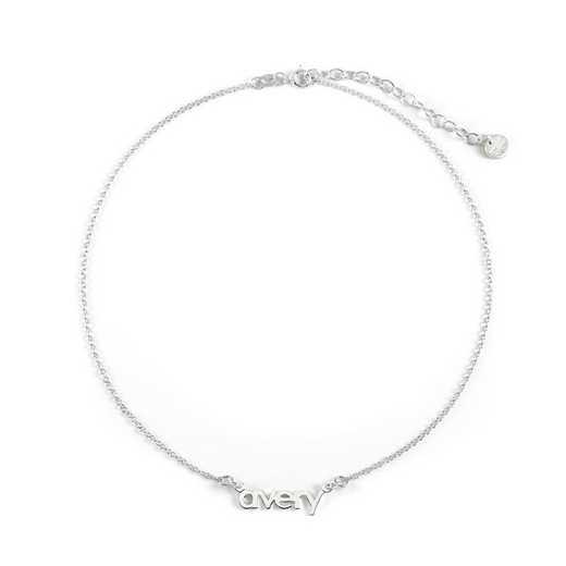 BYN1069S: Sofia Mini Namplate Choker Necklace
