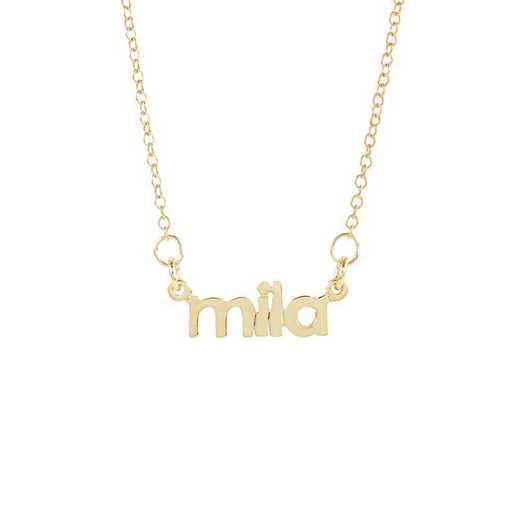 BYN1068G: Sofia Mini Nameplate Necklace