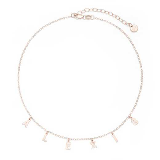 BYN1106R: Sofia Spaced Name Choker Necklace