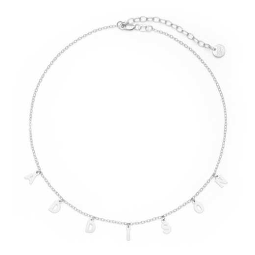 BYN1106S: Sofia Spaced Name Choker Necklace