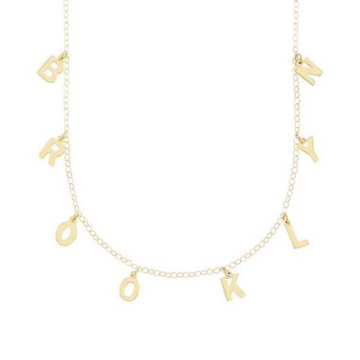 BYN1105G: Sofia Spaced Name Necklace