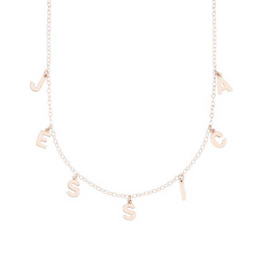 BYN1105R: Sofia Spaced Name Necklace