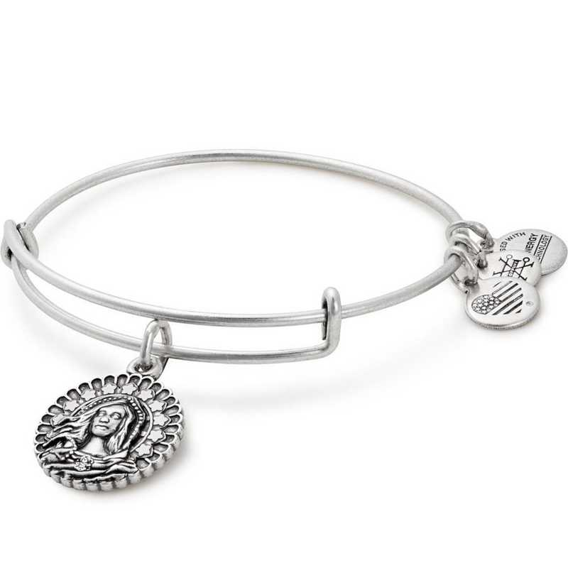 A17EBMMRS: Alex and Ani Mary Magdalena Bangle - Rafaelian Silver Finish