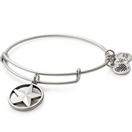 AS16AF01RS: Alex and Ani Star of Strength Bangle Rafaelian Silver Finish