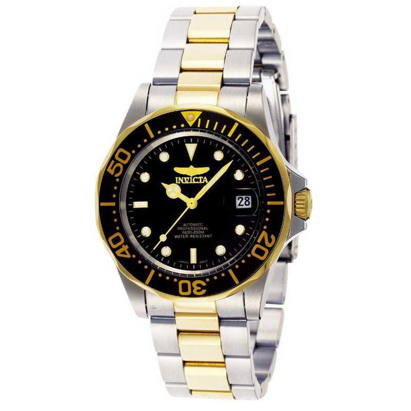 INV-8927: Invicta Men's Pro Diver Automatic 3 Hand Black Dial Watch