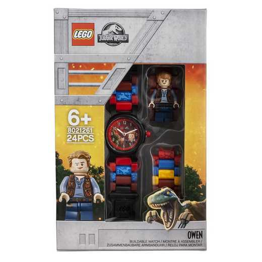 LEGO-8021261: Jurassic World Owen Minifigure Kid's Watch