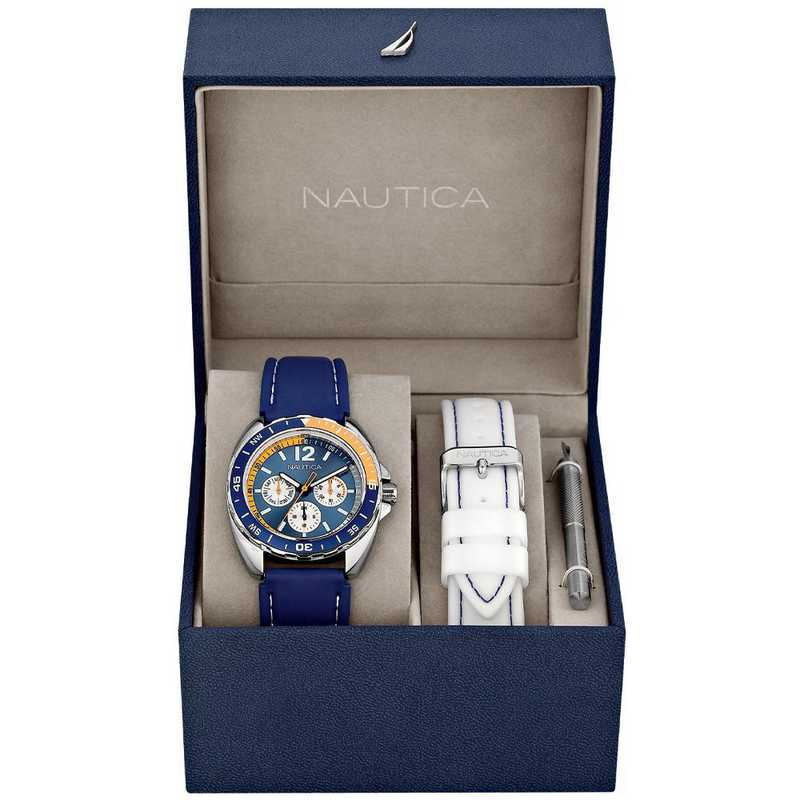 N09915G: Nautica Watches Men's Sport Ring Multifunction SS Watch
