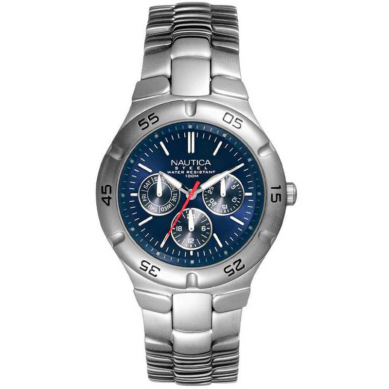 N10061G: Nautica Watches Men's SS Round Multi-Function Watch