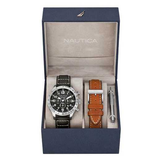 N17616G: Nautica Men's Chronograph Watch - Box Set