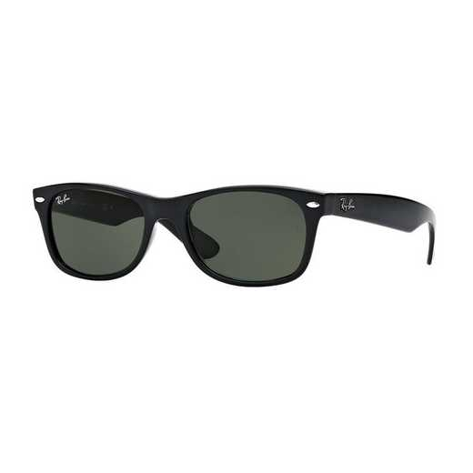 0RB213290158: Ray-Ban New Wayfarer Sunglasses - BLK/GRN