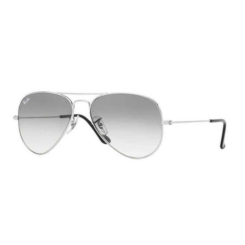 0RB30250033258: Ray-Ban Aviator Sunglasses - Silver