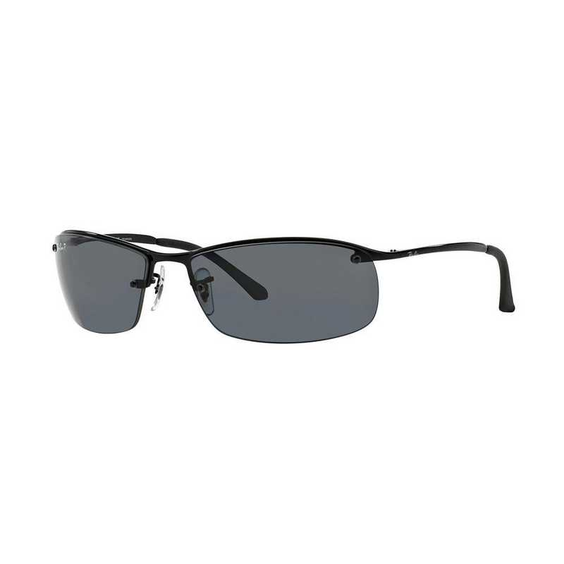 0RB31830028163: Ray-Ban Polarized RB3183 Sunglasses - BLK/Grey Gradient