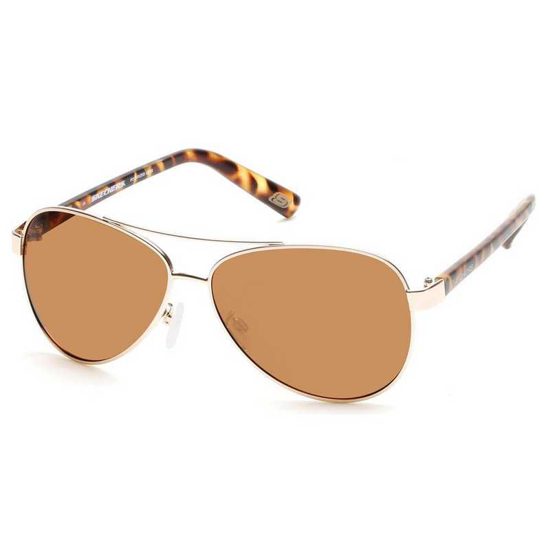 SE4135-31H: Skechers Women's Polarized  Sunglasses - Gold/Tortoise